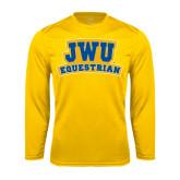 Syntrel Performance Gold Longsleeve Shirt-JWU Equestrian