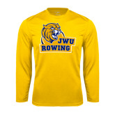 Performance Gold Longsleeve Shirt-Rowing