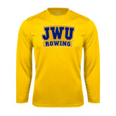 Syntrel Performance Gold Longsleeve Shirt-JWU Rowing