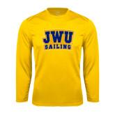 Syntrel Performance Gold Longsleeve Shirt-JWU Sailing