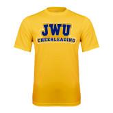 Syntrel Performance Gold Tee-JWU Cheerleading