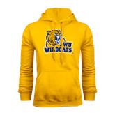 Gold Fleece Hoodie-JWU Wildcats