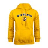 Gold Fleece Hoodie-Arched Wildcats
