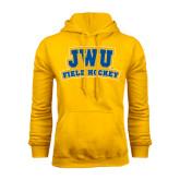 Gold Fleece Hoodie-JWU Field Hockey