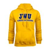 Gold Fleece Hoodie-JWU Cheerleading