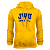 Gold Fleece Hoodie-JWU Rowing