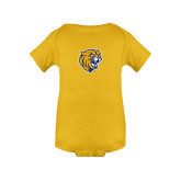 Gold Infant Onesie-Wildcat Head