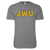 Next Level SoftStyle Heather Grey T Shirt-JWU