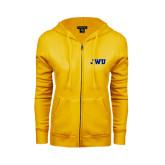 ENZA Ladies Gold Fleece Full Zip Hoodie-JWU