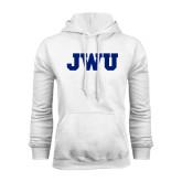 White Fleece Hoodie-JWU