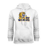 White Fleece Hoodie-JWU Wildcats
