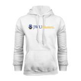 White Fleece Hoodie-JWU Alumni