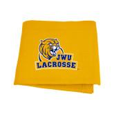 Gold Sweatshirt Blanket-Lacrosse