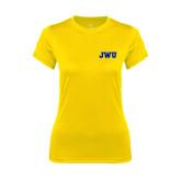 Ladies Syntrel Performance Gold Tee-JWU