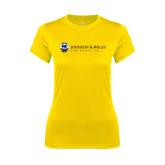 Ladies Syntrel Performance Gold Tee-University Mark