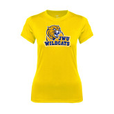 Ladies Syntrel Performance Gold Tee-JWU Wildcats