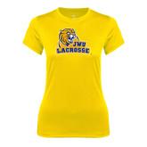 Ladies Syntrel Performance Gold Tee-Lacrosse