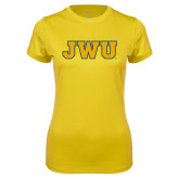 Ladies Syntrel Performance Gold Tee-JWU