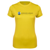 Ladies Syntrel Performance Gold Tee-University Mark