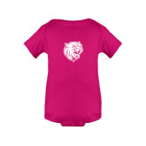 Fuchsia Infant Onesie-Wildcat Head