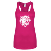 Next Level Ladies Raspberry Ideal Racerback Tank-Wildcat Head