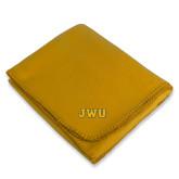 Gold Arctic Fleece Blanket-JWU