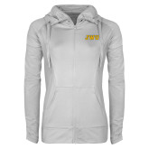 Ladies Sport Wick Stretch Full Zip White Jacket-JWU