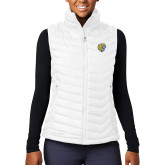 Columbia Lake 22 Ladies White Vest-Wildcat Head