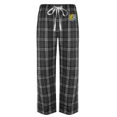 Black/Grey Flannel Pajama Pant-Wildcat Head