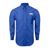 Mens Royal Oxford Long Sleeve Shirt-JWU