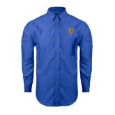 Mens Royal Oxford Long Sleeve Shirt-Wildcat Head