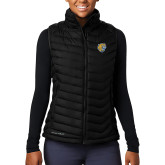 Columbia Lake 22 Ladies Black Vest-Wildcat Head