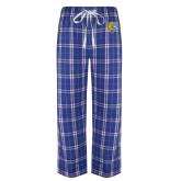 Royal/White Flannel Pajama Pant-Wildcat Head