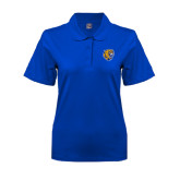Ladies Easycare Royal Pique Polo-Wildcat Head