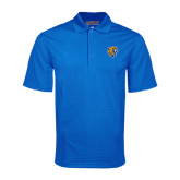 Royal Mini Stripe Polo-Wildcat Head