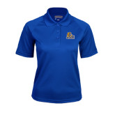 Ladies Royal Textured Saddle Shoulder Polo-JWU Wildcats