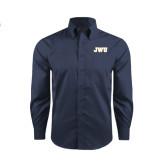 Red House Deep Blue Herringbone Long Sleeve Shirt-JWU