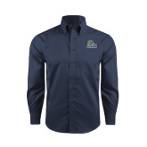 Red House Deep Blue Herringbone Long Sleeve Shirt-JWU Wildcats