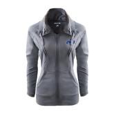 Ladies Sport Wick Stretch Full Zip Charcoal Jacket-JWU
