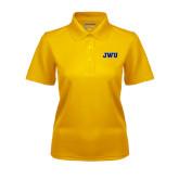 Ladies Gold Dry Mesh Polo-JWU