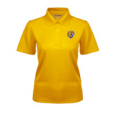 Ladies Gold Dry Mesh Polo-Wildcat Head