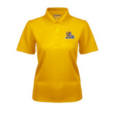 Ladies Gold Dry Mesh Polo-JWU Wildcats