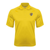 Gold Textured Saddle Shoulder Polo-Wildcat Head