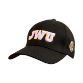 Black Heavyweight Twill Pro Style Hat-JWU