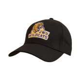 Black Heavyweight Twill Pro Style Hat-JWU Wildcats