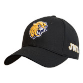 Black Heavyweight Twill Pro Style Hat-Wildcat Head