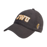 Charcoal Twill Unstructured Low Profile Hat-JWU
