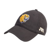 Charcoal Twill Unstructured Low Profile Hat-Wildcat Head