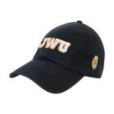 Black Twill Unstructured Low Profile Hat-JWU