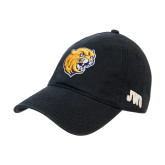 Black Twill Unstructured Low Profile Hat-Wildcat Head